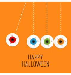 Hanging eyeballs bloody streaks perpetual motion vector