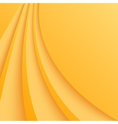Abstract yellow background with curved lines vector image