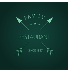 Label logo or menu design for restaurant or vector