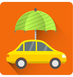 Car protection icon car insurance vector