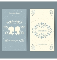 Save the date vintage design cards vector