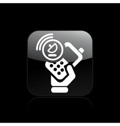satellite phone icon vector image