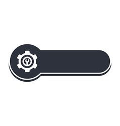 Cog setting icon banner template vector