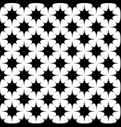 Black and white seamless star pattern background vector