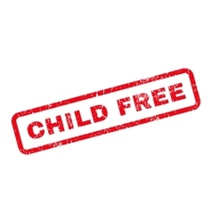 Child Free Text Rubber Stamp vector image