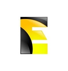 Creative yellow and black symbol letter e for your vector