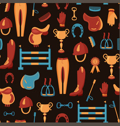 dark equestrian pattern vector image vector image