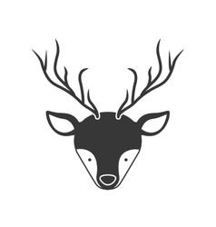 deer animal face vector image
