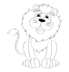 Doodles drafting animal for lion vector
