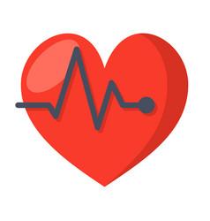 ecg or electrocardiography icon vector image