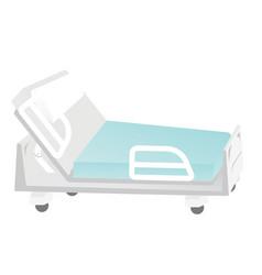 empty medical bed cartoon vector image