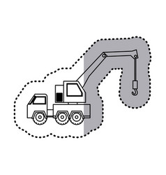 Figure car crane icon vector