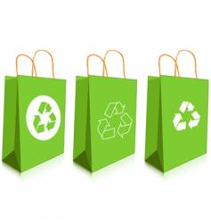 green bags vector image