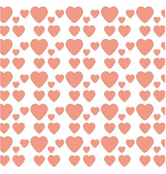 heart love decoration seamless pattern vector image