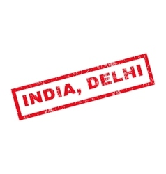 India delhi rubber stamp vector