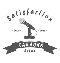 Karaoke club microphone retro song vector image