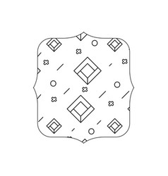 Line quadrate with geometric abstract figures vector