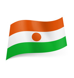 National flag of niger orange white and green vector