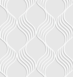 Paper cut out wavy leaves forming grid vector