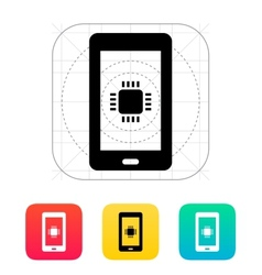 Phone cpu icon vector