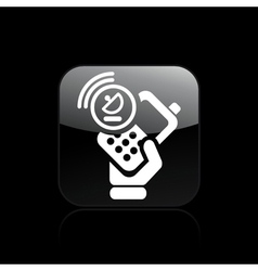 satellite phone icon vector image vector image