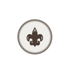 scout symbol icon outdoor adventure retro design vector image