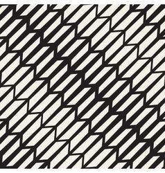 Seamless black and white arrow shape vector