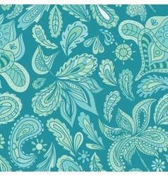 Turquoise indian henna pattern vector