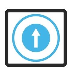 Up rounded arrow framed icon vector