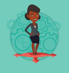 woman choosing career way vector image