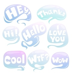 Cartoon air speech bubbles set vector image