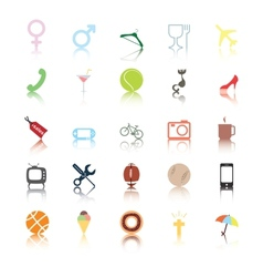Social icons people interests vector