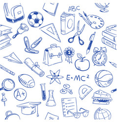 back to school education doodles pencil vector image