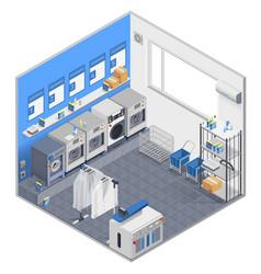 laundry isometric concept vector image