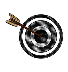Arrow hitting a target business solution concept vector