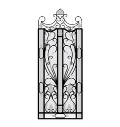 Forged gate door vector