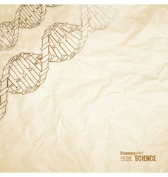 Old paper with dna vector