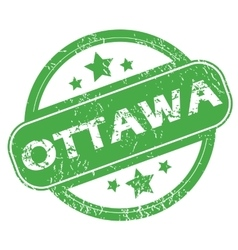 Ottawa green stamp vector