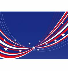 Patriotic background stars and stripes vector