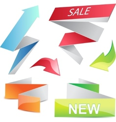 3d arrows and banners set elements vector image
