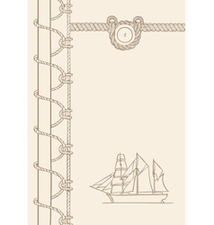 Sailing ship nautical background vector