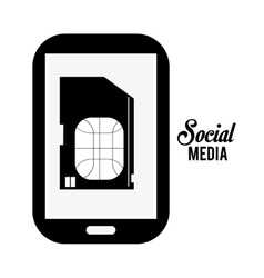 Social media and technology design vector