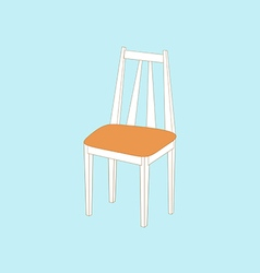 Kitchen chair icon vector