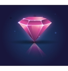 Colorful shiny bright crystals diamond crystal vector