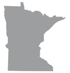 US state of Minnesota vector image