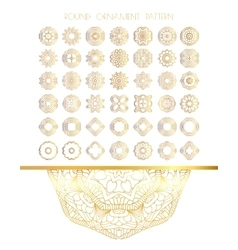 Traditional golden decor vector