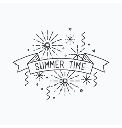 Summer time inspirational vector