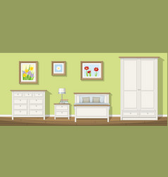 a classic bedroom vector image vector image