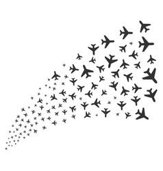 Air plane source stream vector