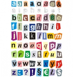 alphabet small letters vector image